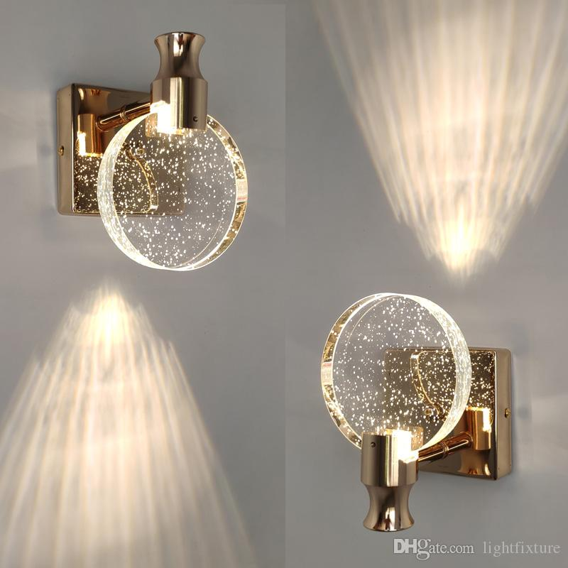 Criativa bolha Lâmpadas de parede de cristal minimalista Sala Quarto arandela espelho do banheiro da parede dianteira da luminária