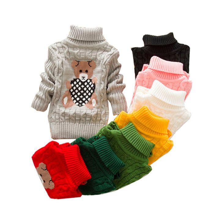 Toddler maglione del bambino neonata dei capretti del maglione di inverno delle ragazze dei ragazzi simpatico orso maglioni di Natale Maglione Abbigliamento