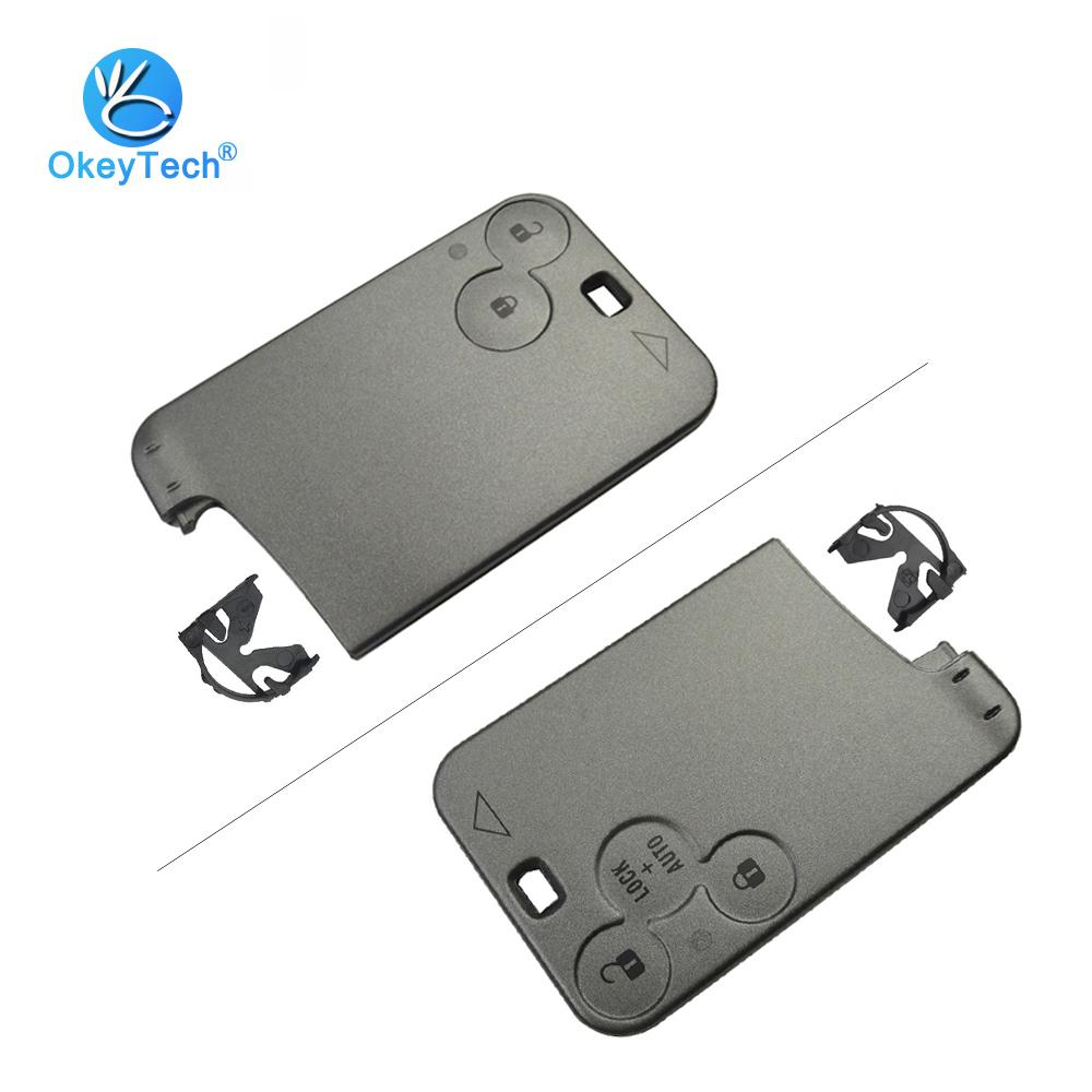 For Renault Smart Key Card 2/3 Button Replacement Cover Case Keyless Fob Remote Car Key Shell For Renault Laguna Espace