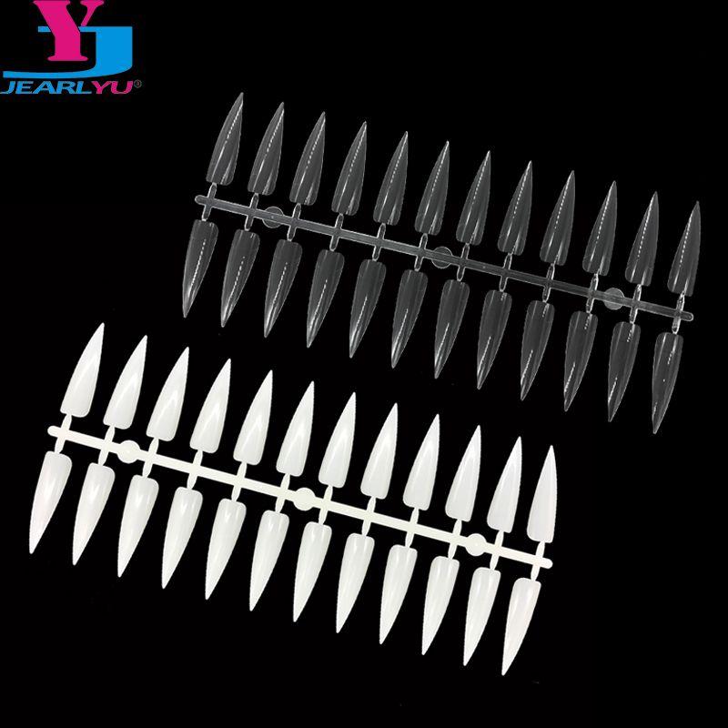 Di alta qualità 20 pz Natura Chiaro False Nail Art Suggerimenti Bastoni Colore Polacco Display Fan Practice Consiglio Manicure Materiale Unghie Strumenti
