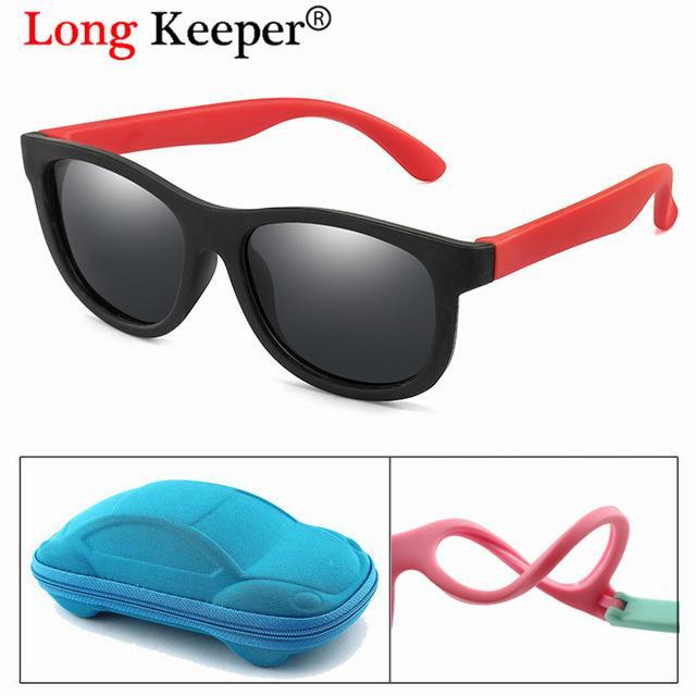 Polarized Mirror Kids Sunglasses Boys Girls Baby Infant Fashion Sun Glasses UV400 Eyewear Child Gafas Infantil With Car Case