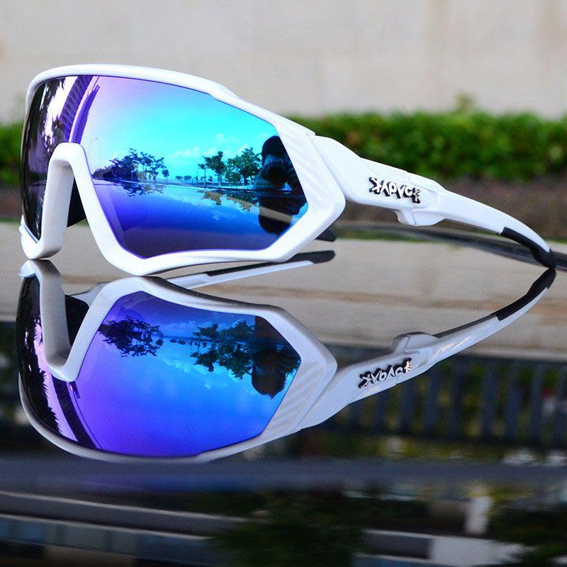 패션 사이클링 안경 남자 여성 스포츠 사이클링 안경 편광 렌즈 산악 자전거 고글 자전거 선글라스 UV400 안경 상자