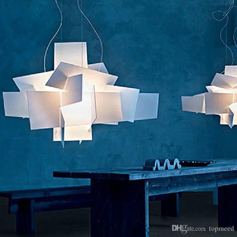 Hot Foscarini Big Bang Chandelier Light Fashion Modern Creative Stacking Pendant Lamp Chandelier Ceiling Light 90CM 65CM White/Red + R7S Lig