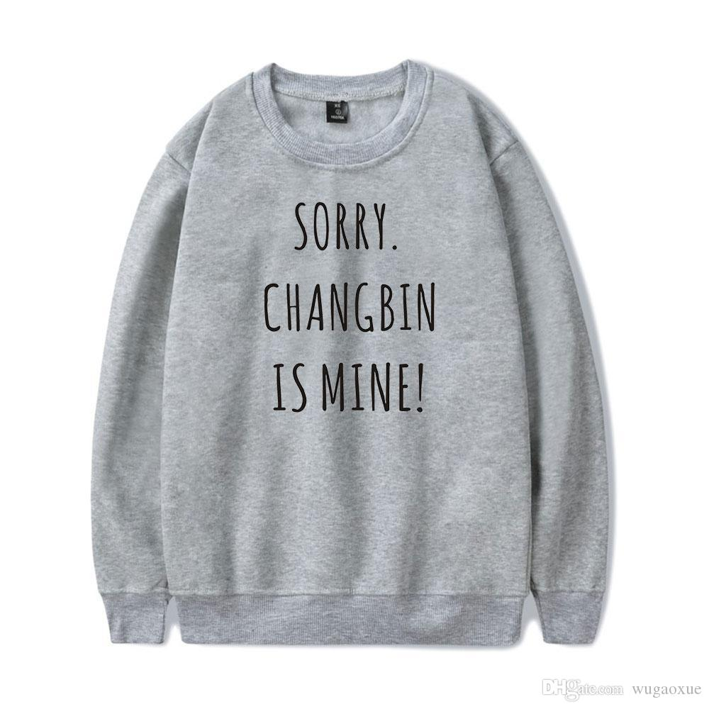 Frdun Stray Kids Round Collar IT's me Sudadera estampada HighStreet Fashion Oversize Casual Winter / Autumn Sweatshirt