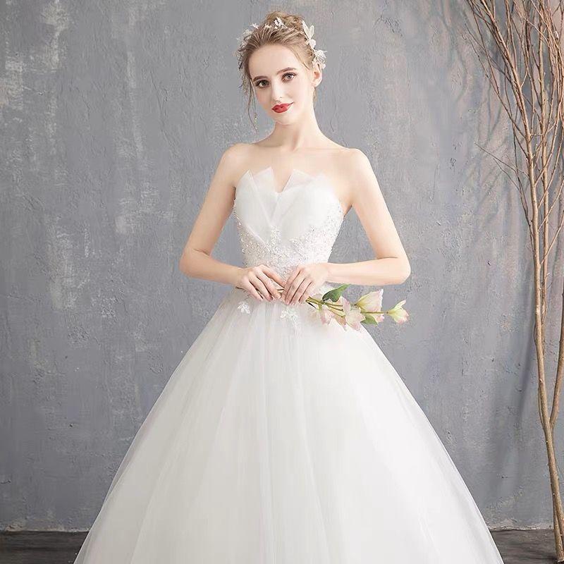 2018 New Strapless Wedding Dress Garden Church