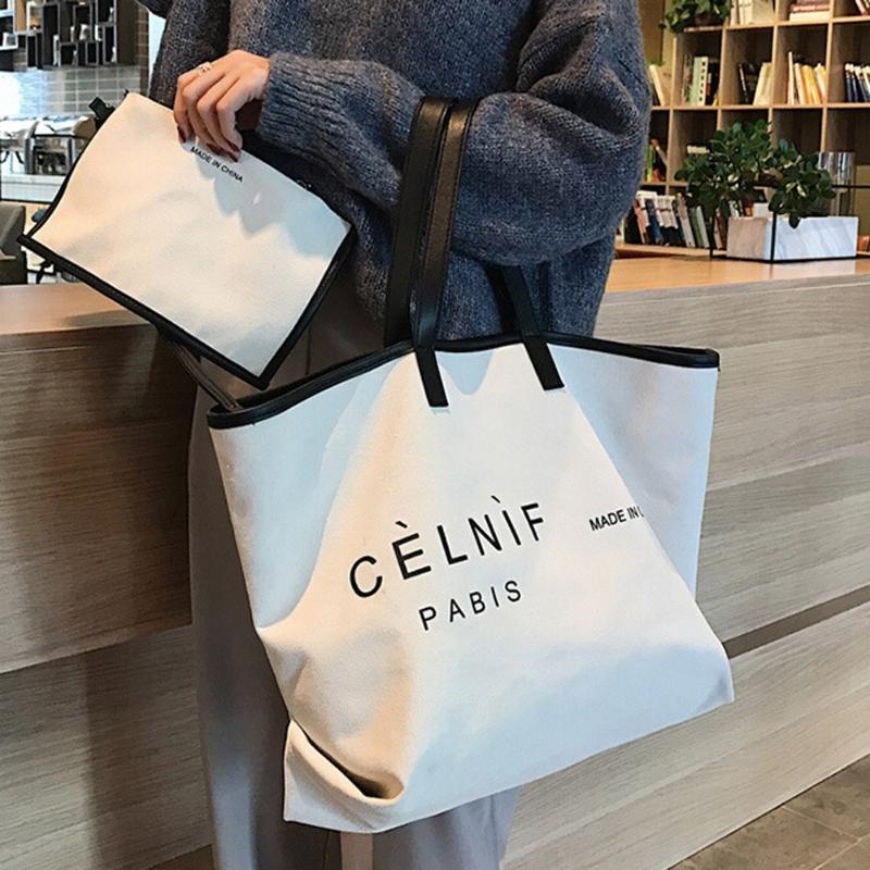 Gezi Bakkal Moda Pocket Bez Çantalar Katlama Alışveriş Çantası Çevre dostu Yeniden Taşınabilir Omuz Çanta