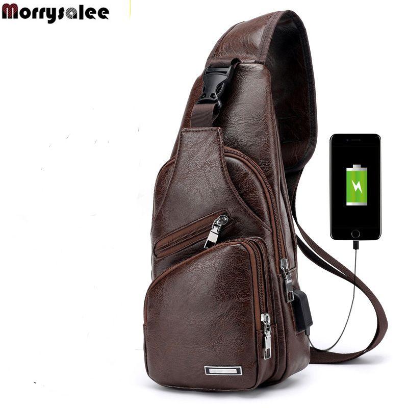 Sacs à bandoulière Messenger Retour Backbody Sac Coffre Sac Cuir Sacs Hommes Diagonal Nouveau Pack USB Voyage XJTOL