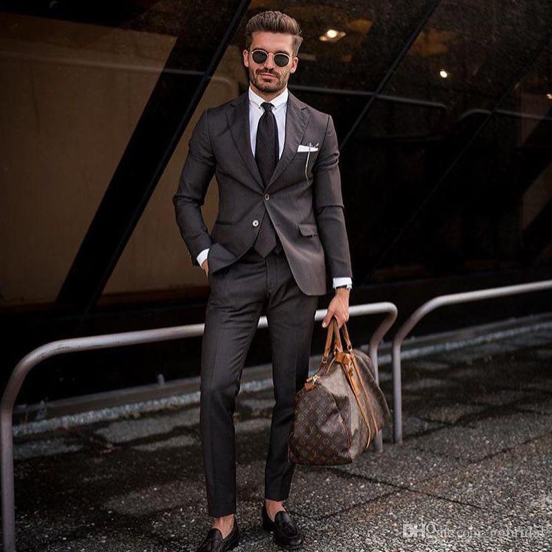 2 Stück Anzug Bräutigam Smoking Herren Hochzeitsanzug Jacke + Hose nach Maß Groomsmen Bester Mann-Klage