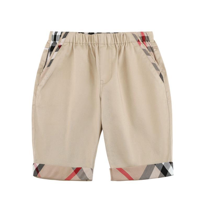 design sólido Médio Cor calças cor de colisão INS roupas menino para o menino Verão 100% algodão