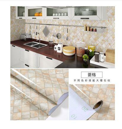 Thickening Waterproof Marble Wallpaper Cabinet Desktop Countertop