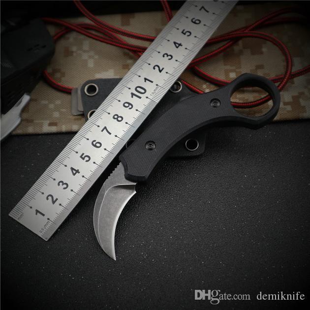 Alta calidad mini cuchillo de la garra de Karambit EDC exterior autodefensa que acampa del cuchillo cuchillo táctico del acero frío supervivencia del bolsillo del pie BM 940 781