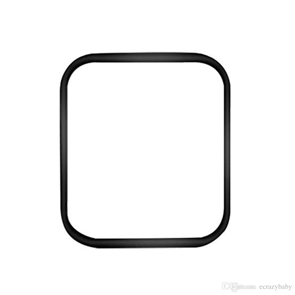 애플 시계 5 4 3 방폭 강화 유리 전체 화면 보호 필름 9H 3D 곡선 모서리 전체 접착제 보호 유리 커버 40mm의 44mm의 경우