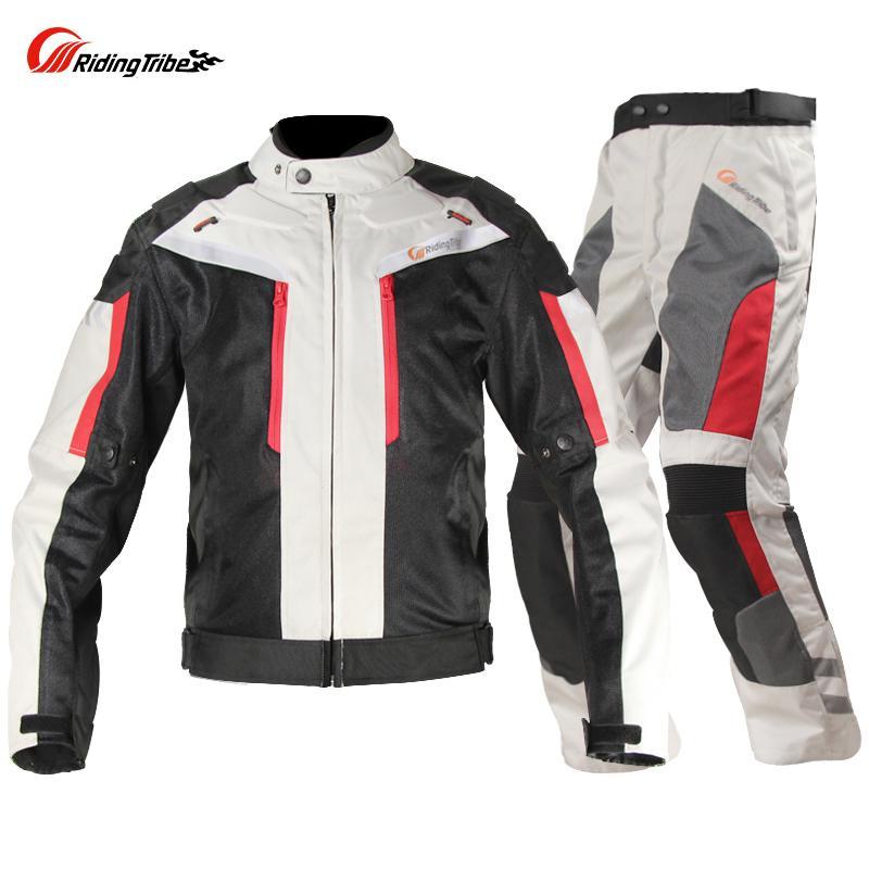 Езда племя лето мотогонки куртки брюки водонепроницаемая одежда мотокросс мотоцикл куртка брюки костюмы CE протектор