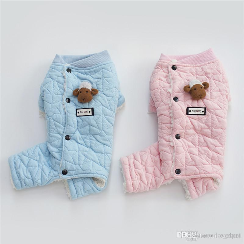 F120 dog winter jumpsuit rompers pet dog cotton coverall winter clothes warm winter coat 2019 new style