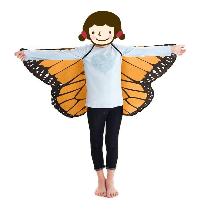 Fairy tale princess cosplay costume Butterfly Wings Shawl Cape Stole Kids Boys Girls Capes Cosplay only cape without mask