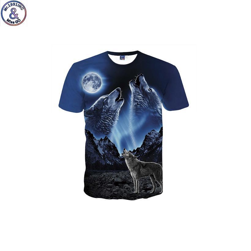 J190529Mr. 1991 бренд смешной дизайн воющий волк 3d печатная футболка для мальчика новая мода с коротким рукавом детская футболка подростковые топы Dk15 J190529