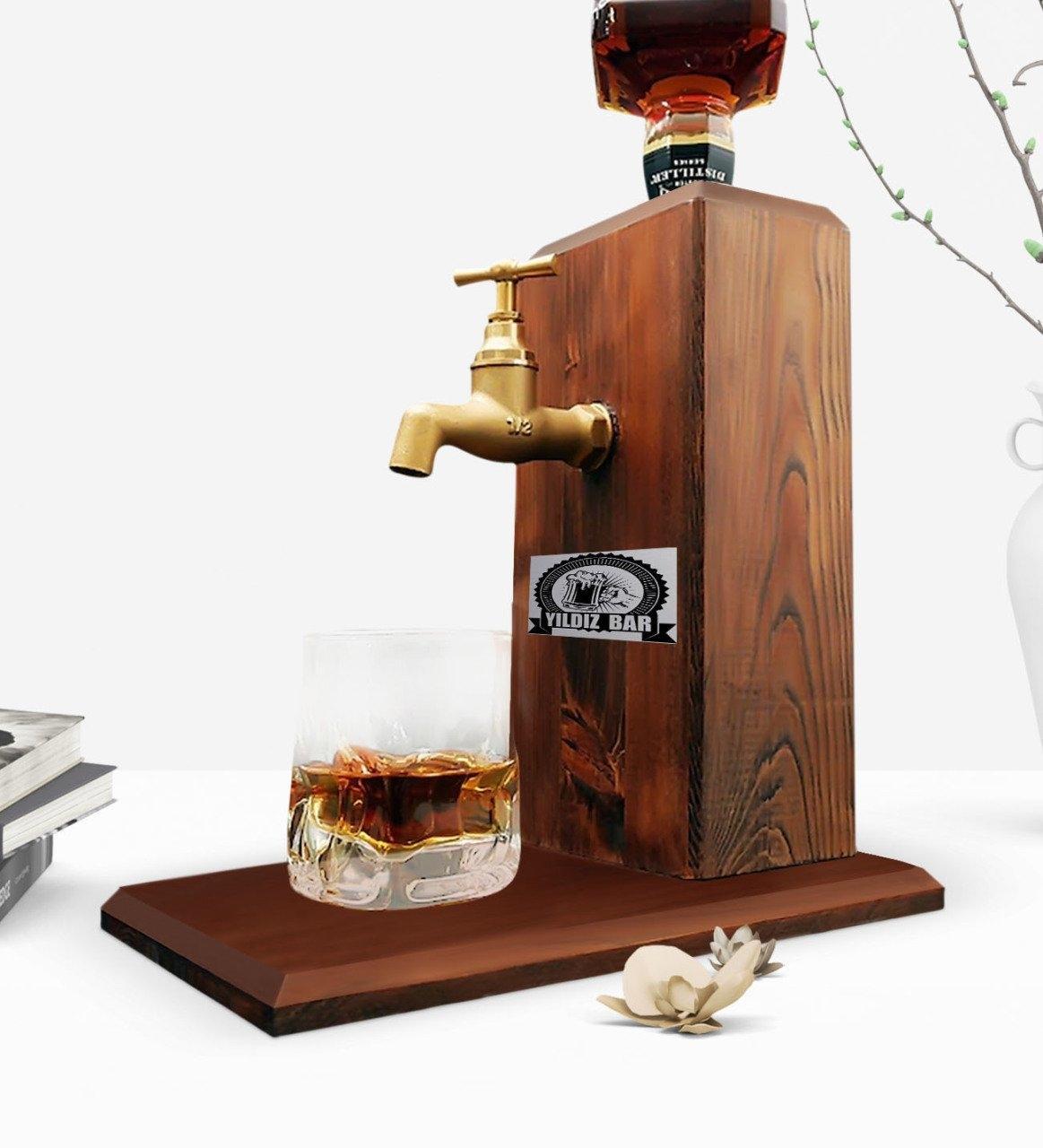 Батончики Пользовательские Tap натурального дерева Виски Stand-Walnut Другое выпекание