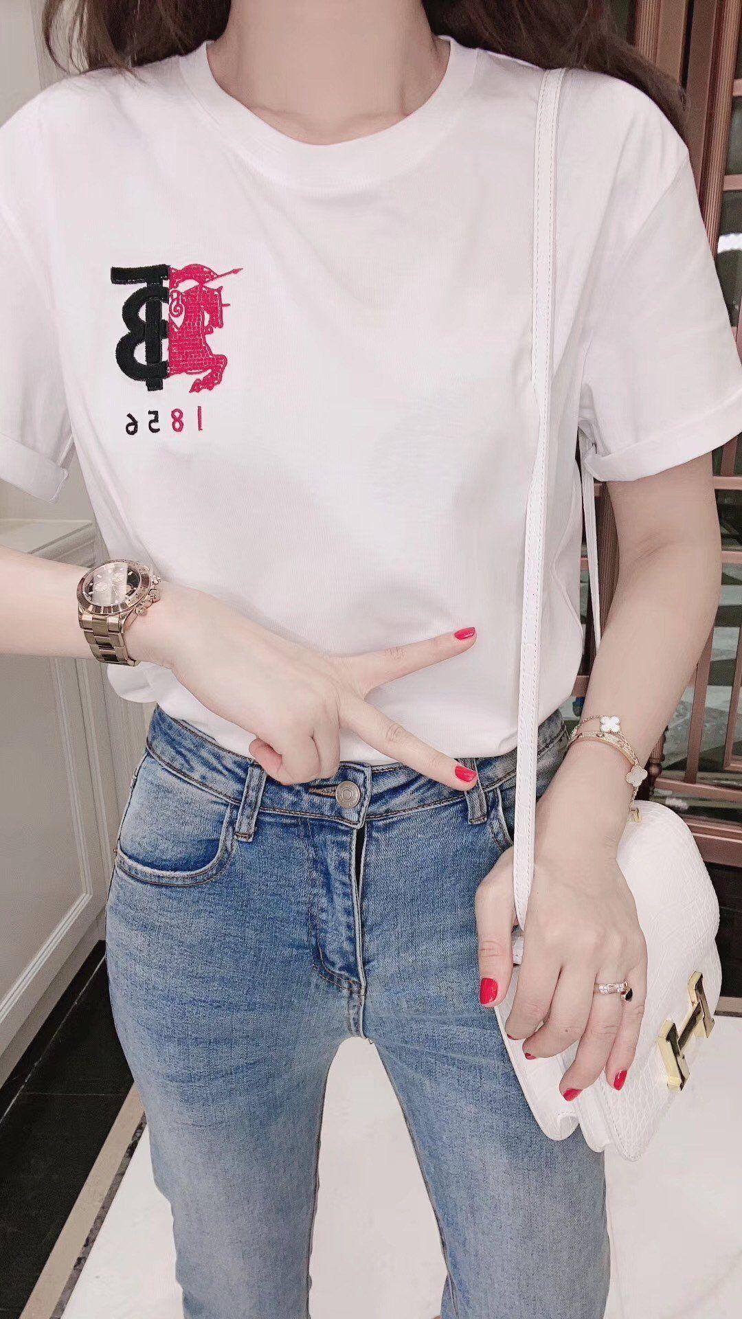 VMFRshort-kollu kadın 2020 bahar yüksek kaliteli ve yaz moda T-shirt rahat ve rahat kadın giyim ZZTV