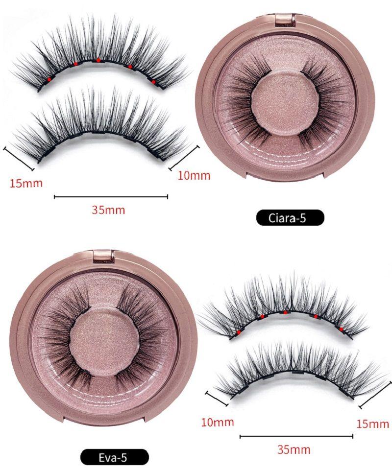 2019 New Magnetic Liquid Eyeliner & Magnetic False Eyelashes & Tweezer Set Magnet False Eyelashes Set Glue Make Up Tools 3pcs/sets ePacket