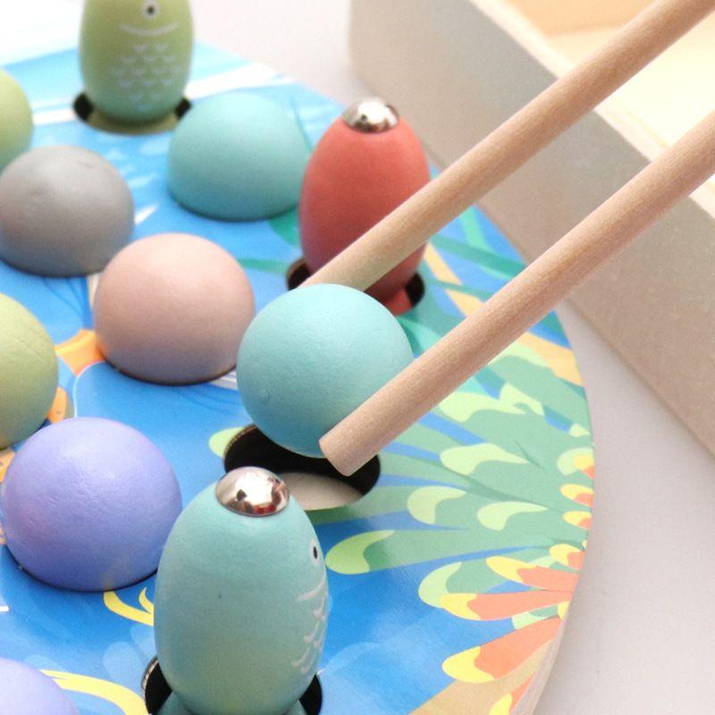 Цзя чжу Рыбалка в-Clip Music Палочки клип клип Болл Magnetic Рыбалку Детская игрушка деревянная.