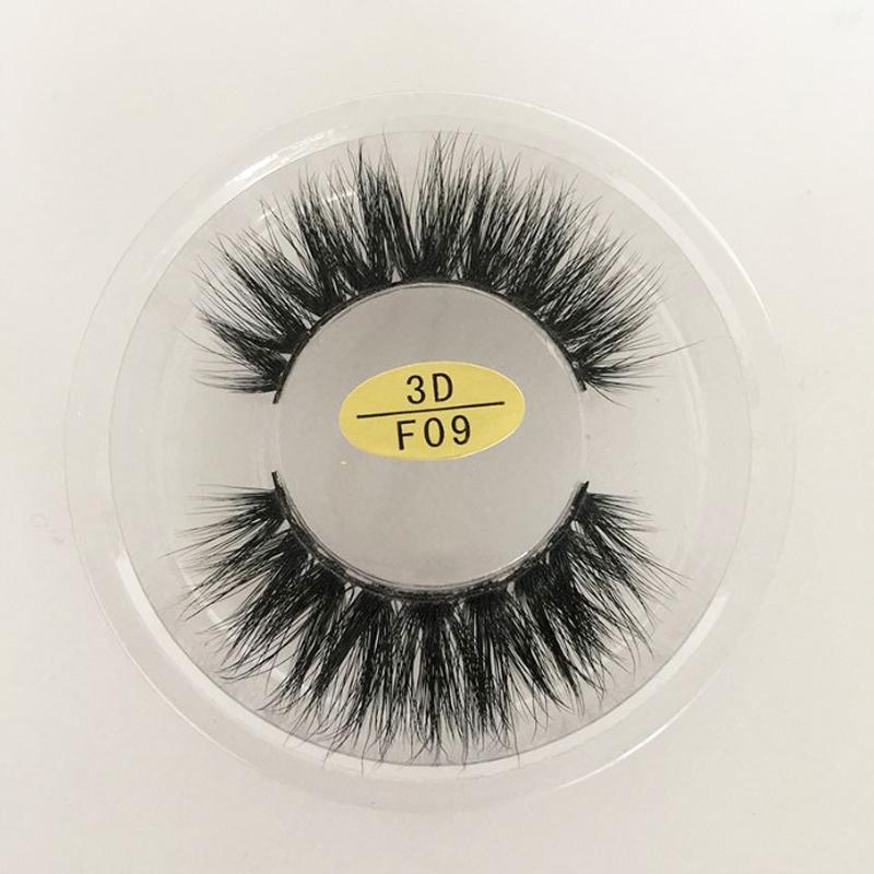 3D Artificial Mink False Eyelashes Cross Thick Messy Hot Fake Eye Lashes Makeup in stock #3D-F06