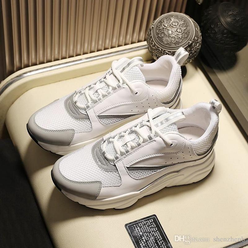 B22 lona y piel de becerro de la zapatilla de deporte de los hombres de los zapatos Venta Deportes zapatos para caminar al aire libre más el tamaño top del punto bajo del zapato con cordones zapatos de los hombres Herren Sportschuhe