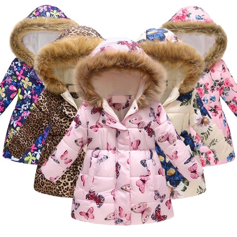 Розничная Kid Toddler Girls пальто куртки Полька Dot шаблон куртки для детей Outwear мило одежды зимы теплые младенца Одежда для девочек LY191225