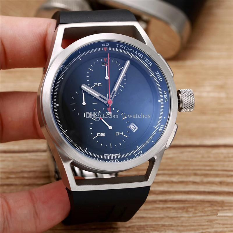 Hot sale sport watch for man quartz stopwatch top sell chronograph watches rubber bracelet wrist watch pd02