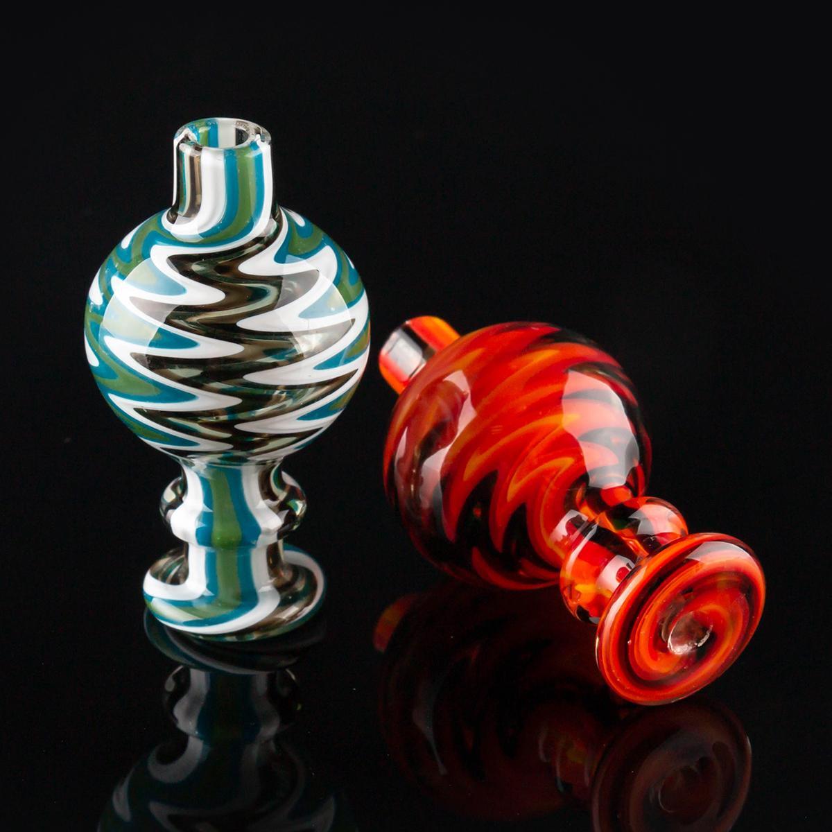 EE. UU. Color 28mm OD Burbuja de vidrio Carb Cap para Flat Top Quartz Banger Nails Glass Water Bongs Tubería Dab Rigs