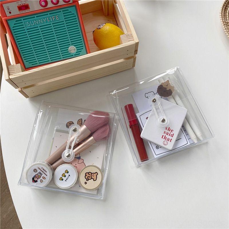ins coreano self-made in PVC trasparente avvolgimento archiviazione di file biglietti Deposito cura della pelle borsa e sacchetto di rifinitura avvolgimento