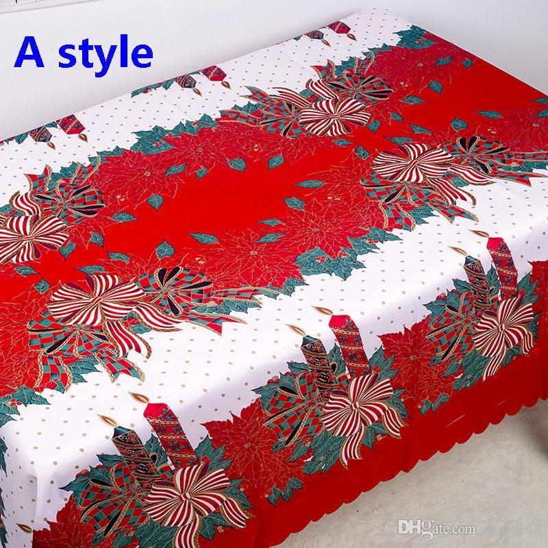 عيد الميلاد الجدول القماش السنة الجديدة زينة عيد الميلاد 3D البوليستر المطبوعة مفرش المائدة المضادة للحشف الجدول المنزلية الغلاف DHL HH9-2574