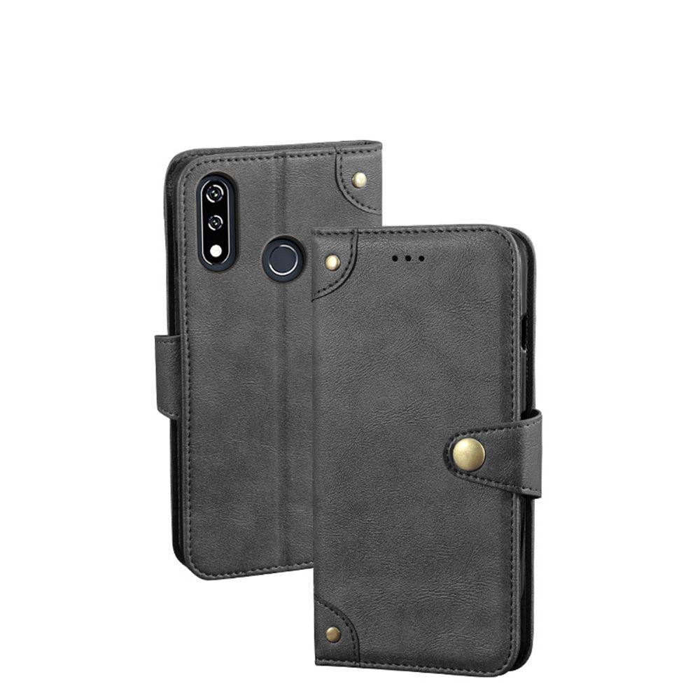 YLYH TPU Silikon-Protect Drehen Leder Gummi-Abdeckung Telefon-Kasten für LG V30 Plus-V30S V35 ThinQ W10 W30 K40S K50s Pouch Shell Wallet Etui Haut
