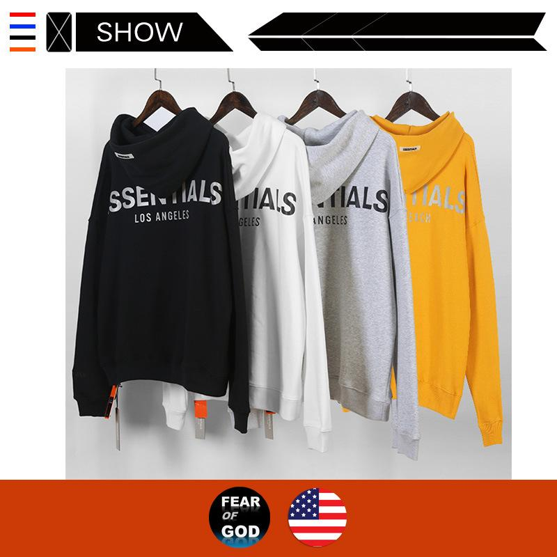 2020 US Designer street tide brand FEAR OF GOD hooded sweater FOG Essentials limited reflective caught balaclavas Los Angeles hoodies