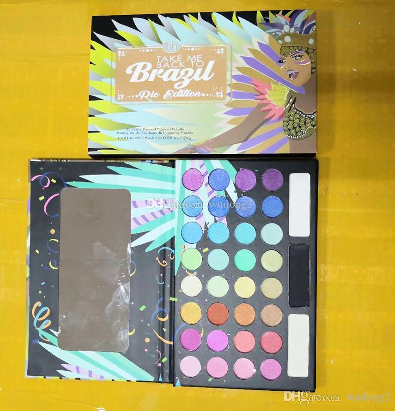 New Arrival makeup 35 colors eyeshadow Palette TAKE ME BACK TO BRAZIL eye shadow palettes set Cosmetics Beauty Matte 1PCS Drop shipping
