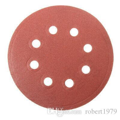 30pcs 5 Inch 8 Holes Abrasive Sanding Discs Sanding Paper 80/120/240 Grit Sand P