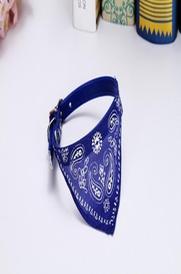 Imountek Adjustable Bandana Leather Pet Collar Triangle Scarf Blue Large Large Imountek Adjustable Sportswear high quality cheap sale ESUWf