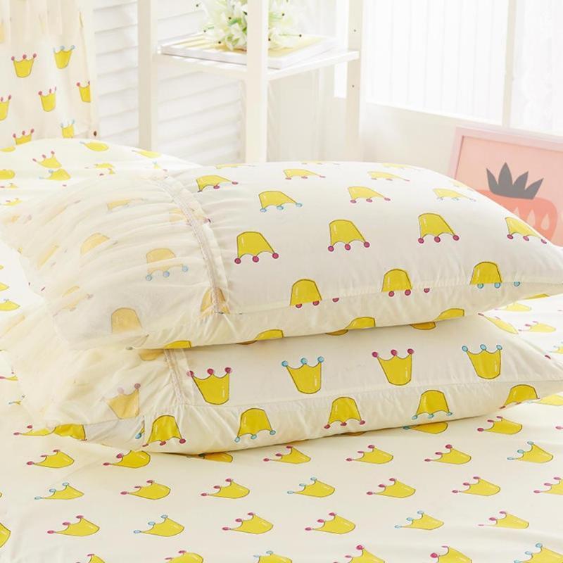 # petiscos impresso princesa rendas saia da cama 48 * 74 centímetros um par de fronhas sem núcleo travesseiro fronha