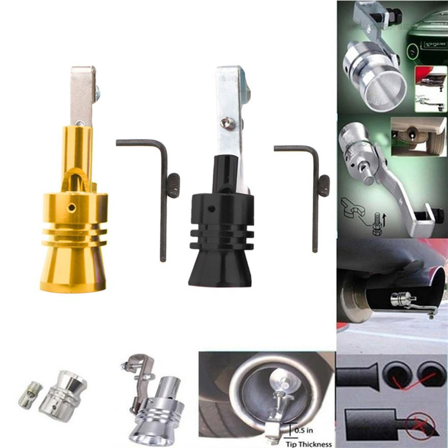 Sisit Exhaust Pipe Oversized Roar Maker Car Auto Exhaust Pipe Loud Whistle Sound Maker L, Black