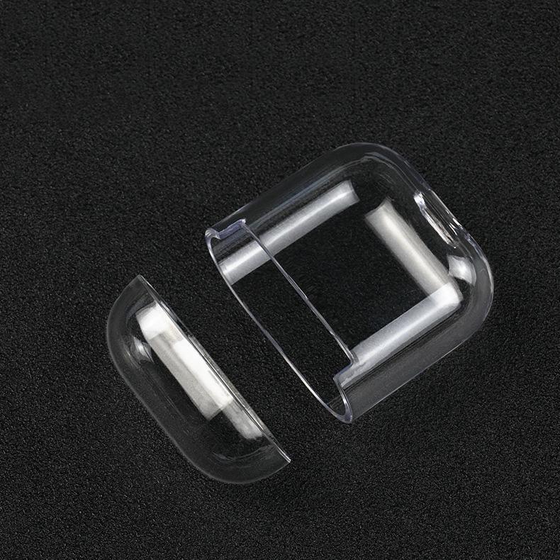 Ultra Clear Crystal transparente dura de la PC de nuevo caso de Shell Cubierta para AirPods 2 y 1