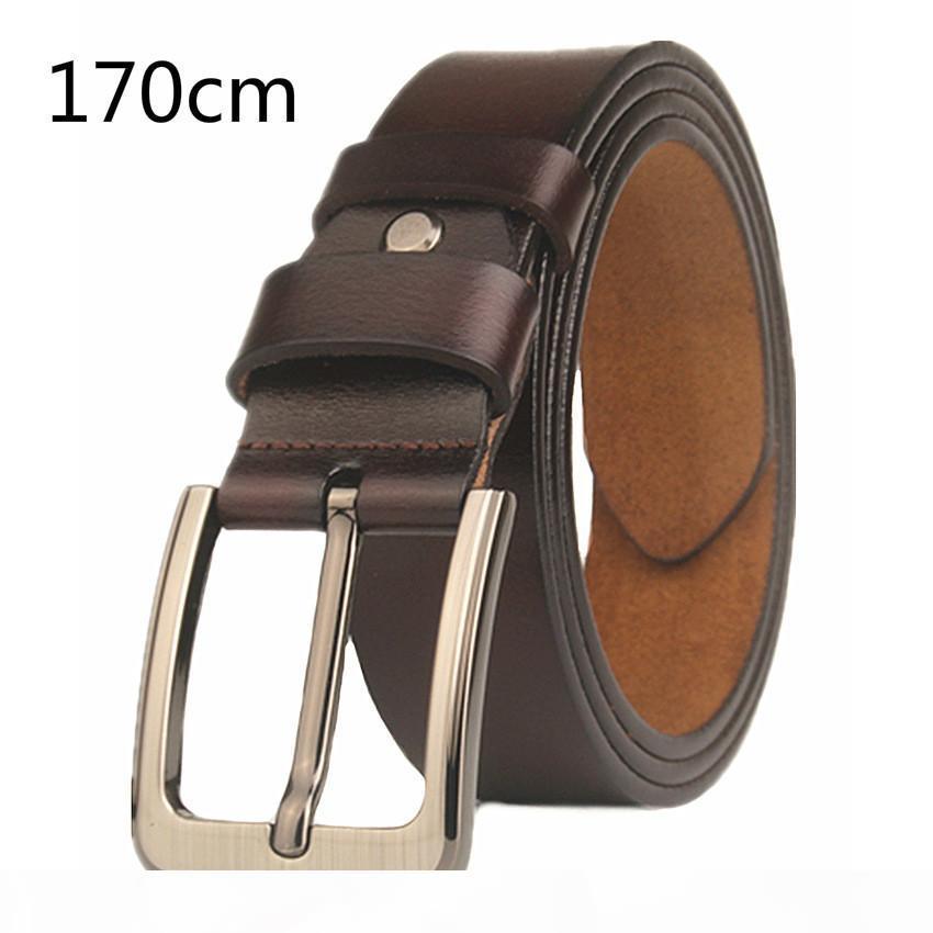 ceintures de créateurs VOHIO hommes de haute qualité noir 170 cm de long hommes en cuir pur boucle de ceinture ceinture étendue hommes de grande taille pour les jeans pour hommes
