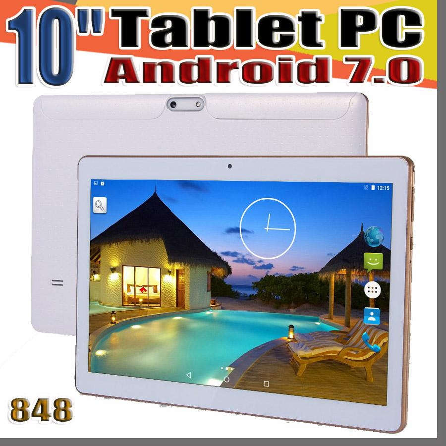 "848 10 "" 10 inch Tablet PC MTK6582 Octa Core Android 6.0 4GB RAM 64GB ROM Phable IPS Screen GPS 3G phone Tablets MID E-10PB"