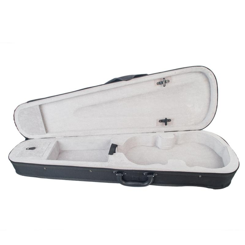 Violin Case Professional Triangular Shape Violin Hard Case -Silver Inside Violin Parts New