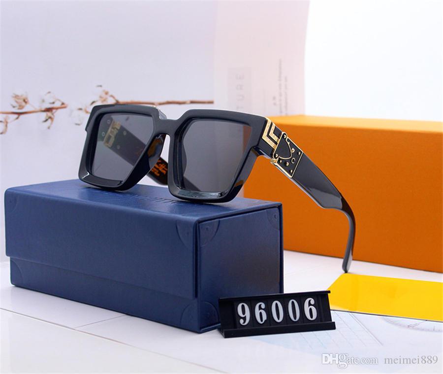 2019 Último caliente de las gafas de sol de diseño de ropa femenina de los hombres de moda y 0937 placa metálica cuadrada marco combinación de alta calidad UV400 con el marco 0