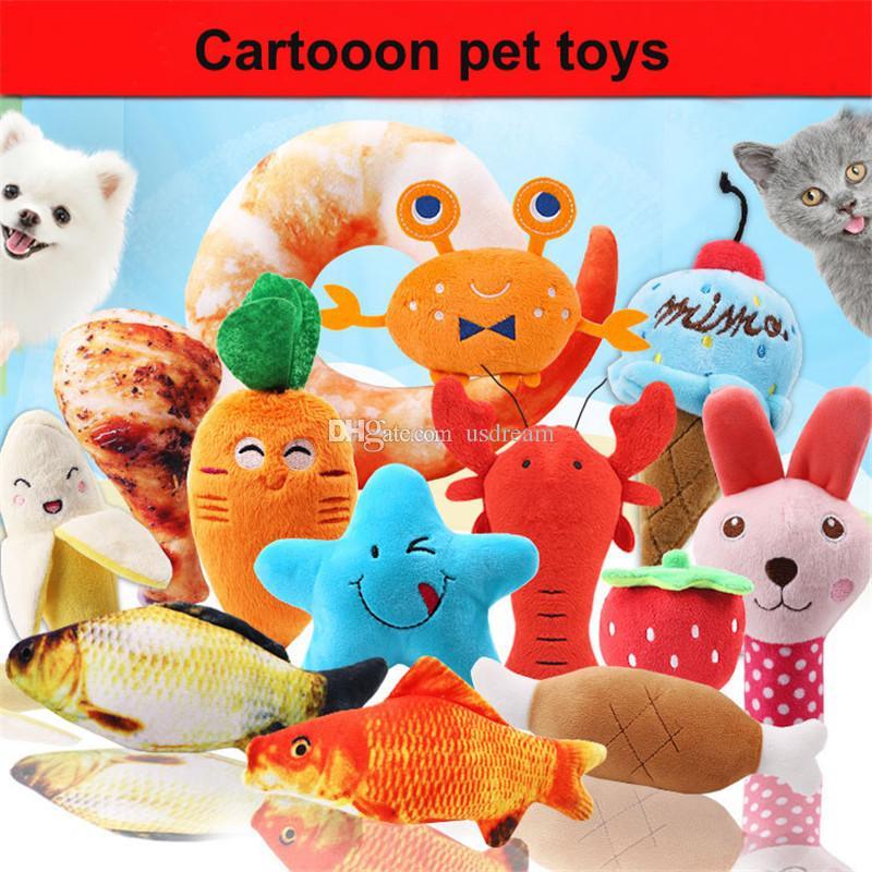 سوف الكرتون الحيوانات الأليفة القطيفة لعبة الحيوان الفاكهة العظام الكلب لعب صوت القطة الأليفة الكلب أفخم لعب الحيوانات الأليفة المنتج والرملية هبوط السفينة
