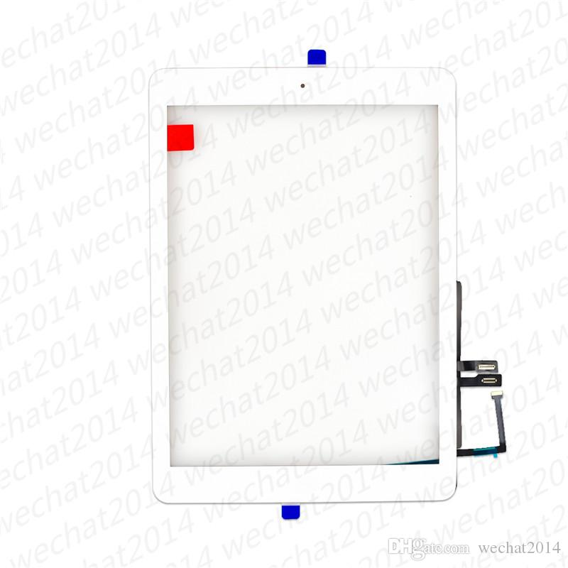New Touch Screen Glass Panel with Digitizer Home Buttons for iPad 6 6th 2018 A1893 A1954 free DHL