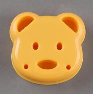 DIY Cartoon Bear Design Sandwich Cutter Bread Biscuits Embossed Device Cake Tools Rice Balls Lunch DIY Mould Tool