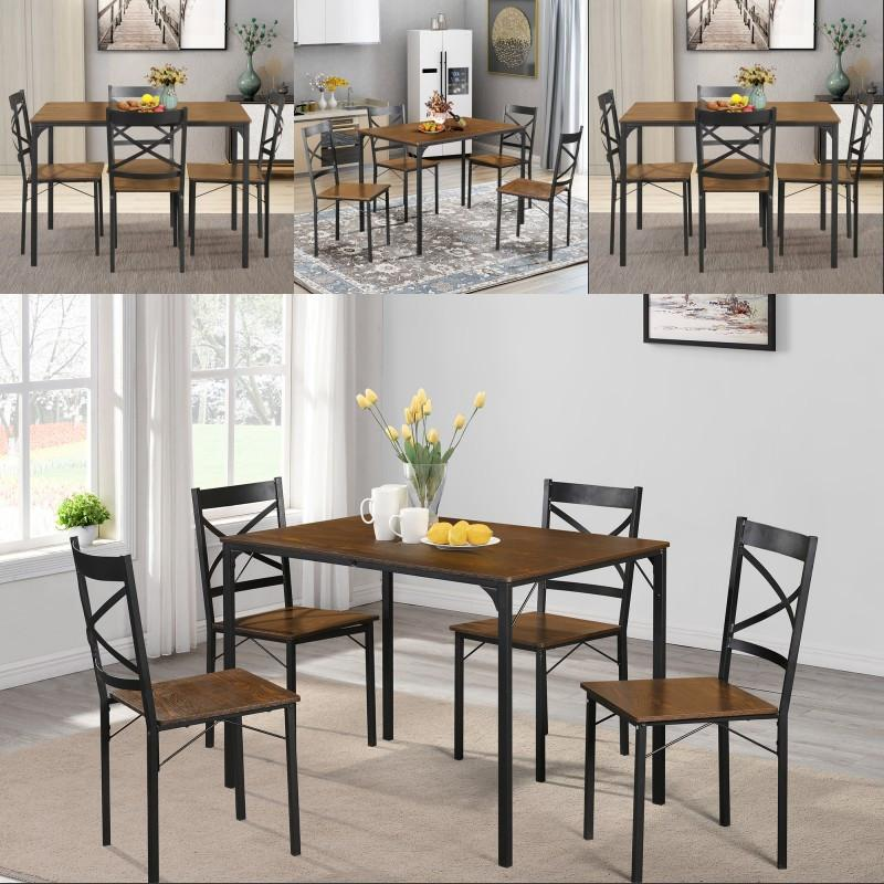 2019 Simple Solid Dining Set Industrial Style Wooden Kitchen Table Chairs  In Stock Fast Shipping From Greatfurnishing, $157.04 | DHgate.Com