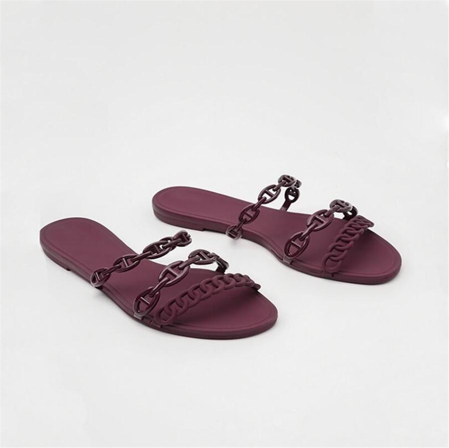 Sandalias Mujer 2020 Lèvres été Mode strass Bouche antidérapantes Chaussures Femmes Chaussons Chaussures Transparent Calzado Mujer 0605 # 744