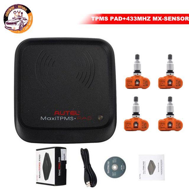 Autel presión de los neumáticos MxSensor MaxTPMS Pad programador 433 / 315MHz universal MX 433 MHz TPMS Sensor programable Autel TPMS 315MHz