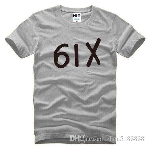 Nouveau Designer Six Drake T Chemises Hommes Coton À Manches Courtes Drake Hiphop 6IX Hommes T-shirt De Mode Rap Hip Hop Tee Shirt Homme Swag
